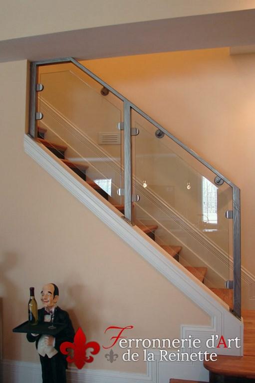 Rampe d\'escalier inox et verre sur mesure - Le Pradet - Var 83 ...